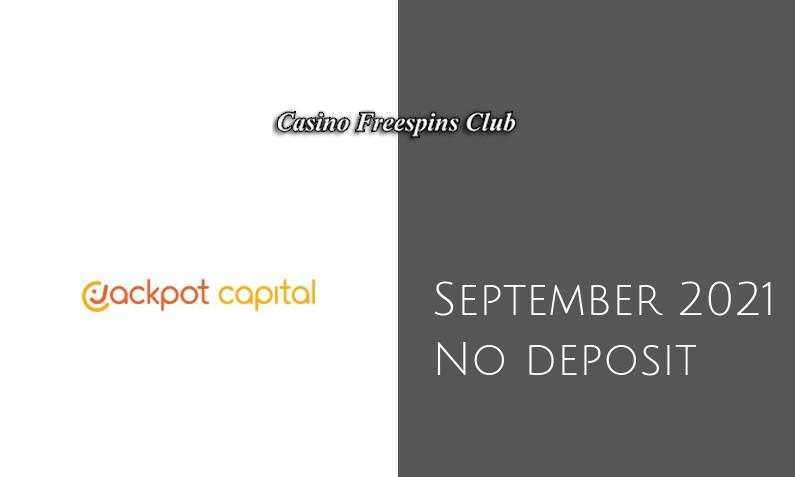 Latest Jackpot Capital Casino no deposit bonus- 4th of September 2021