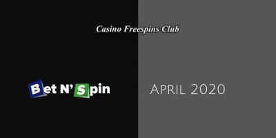 Latest no deposit bonus from BetNSpin Casino 8th of April 2020