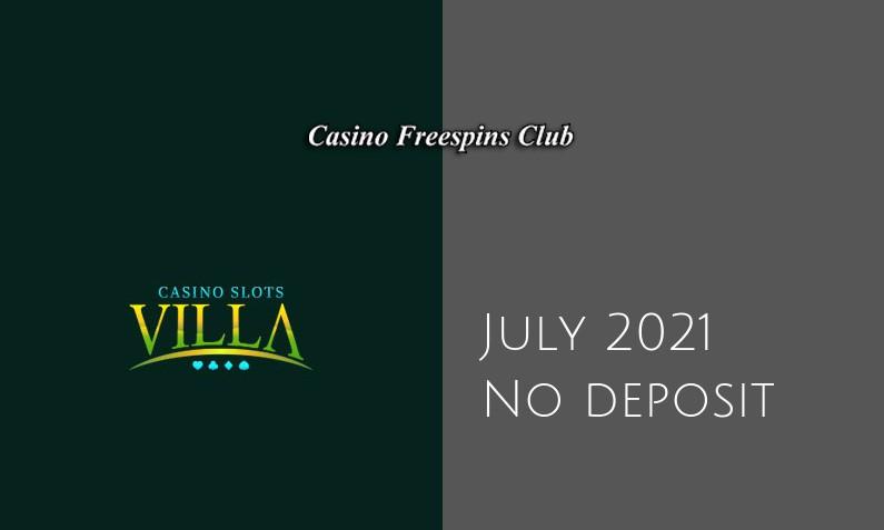 Latest no deposit bonus from Casino Slots Villa July 2021