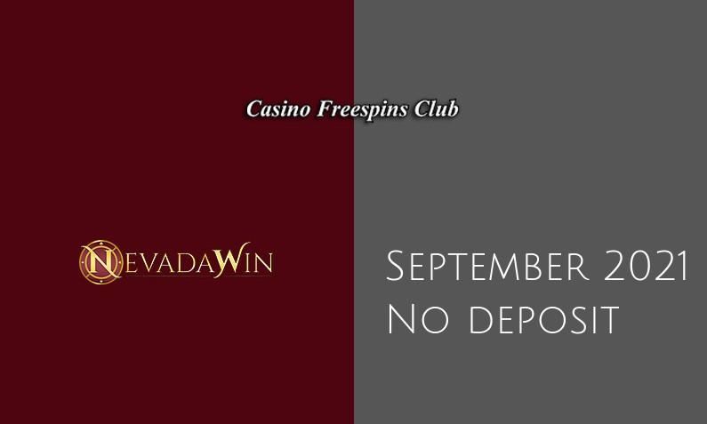 Latest no deposit bonus from Nevada Win- 3rd of September 2021