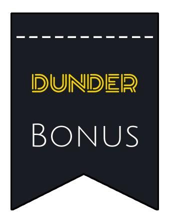 Latest bonus spins from Dunder Casino